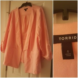 Torrid pink blazer 4X